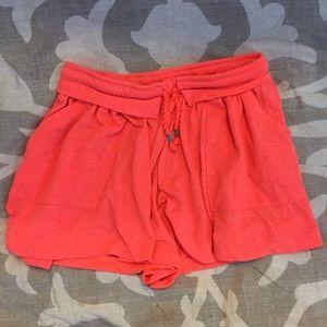 Zara girls' soft coral shorts